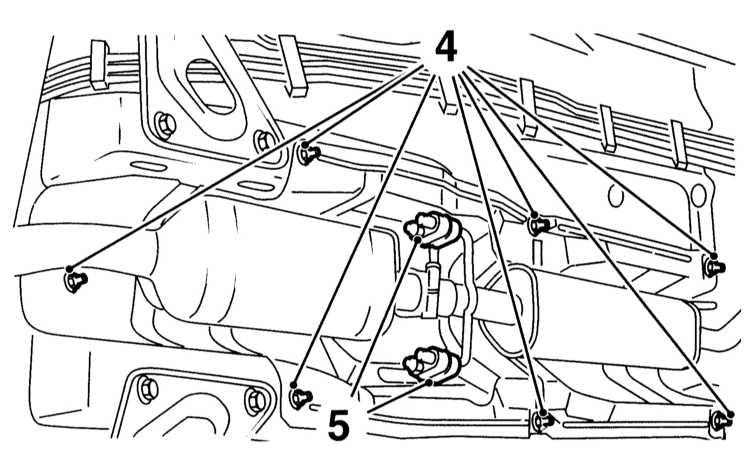 Снятие и установка тросов привода стояночного тормоза Opel Astra