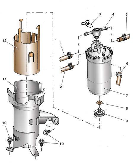 Замена топливного фильтра Skoda Fabia