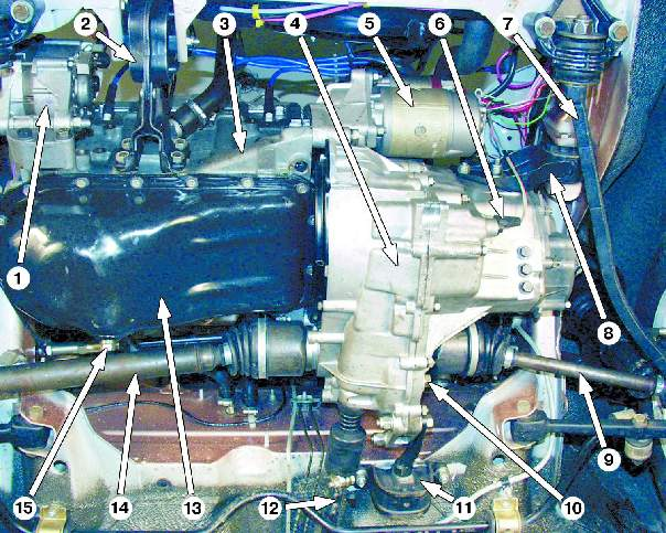 Снятие и установка двигателя ВАЗ 21099
