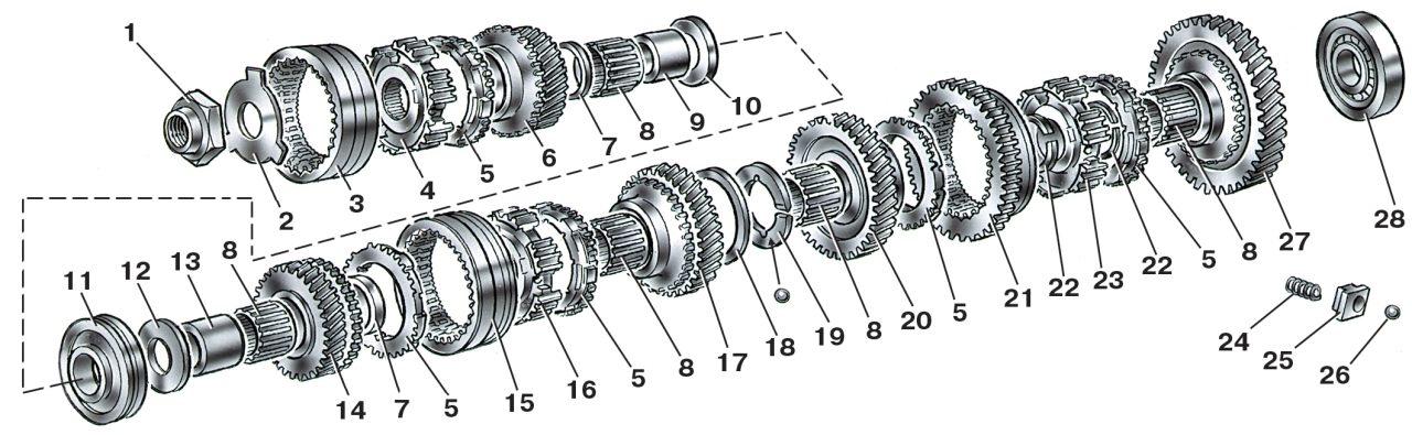 Разборка коробки передач ВАЗ 2115