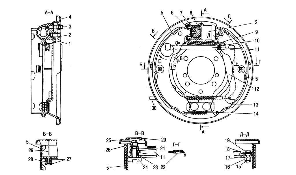 Замена колодок тормозных механизмов задних колес ГАЗ 2705