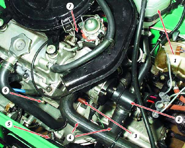 Проверка герметичности системы охлаждения ВАЗ 1111