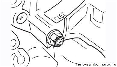 Renault Logan снять замена ремонт Снятие и установка коробки передач Рено Логан