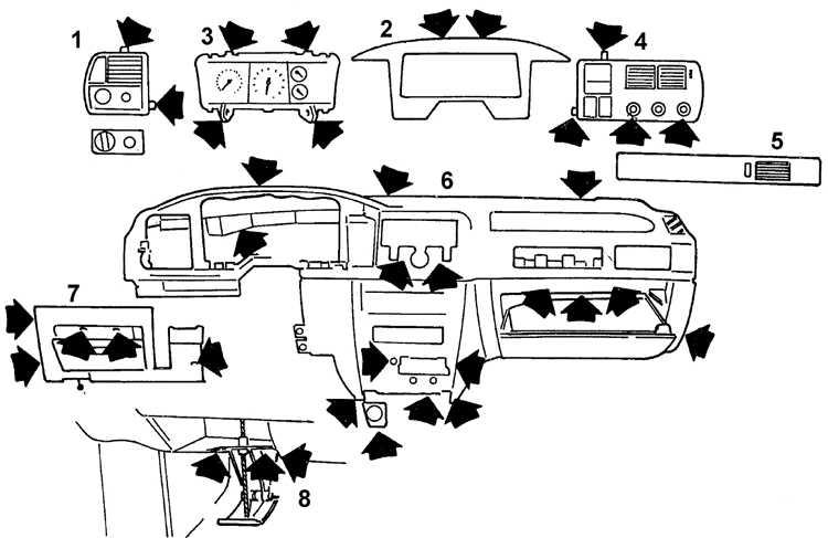 Снятие и установка панели приборов Ford Scorpio