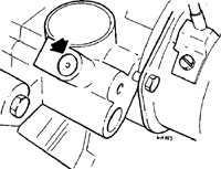 Проверка оборотов холостого хода и качества топливной смеси Mercedes-Benz W124