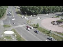 Embedded thumbnail for ДТП на перекрестке Крылова - Ярыгина