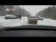 Embedded thumbnail for ДТП на трассе Екатеринбург - Реж